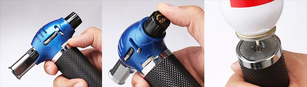 Pro Iroda-Tools PT-230CR puhalluslamppu, kaasupoltin, pikkutoho, käsitoho