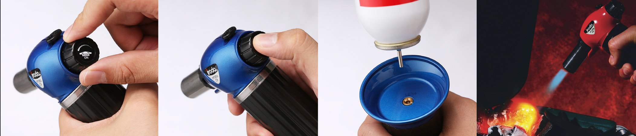 Pro Iroda-Tools PT-550CR puhalluslamppu, kaasupoltin, pikkutoho, käsitoho